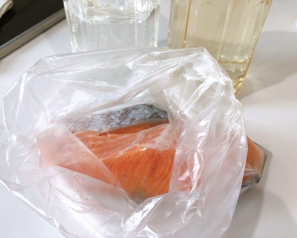 鮭の塩抜き