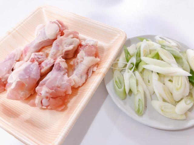 参鶏湯 材料