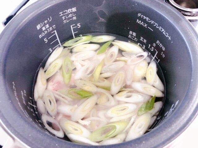 参鶏湯 炊飯器