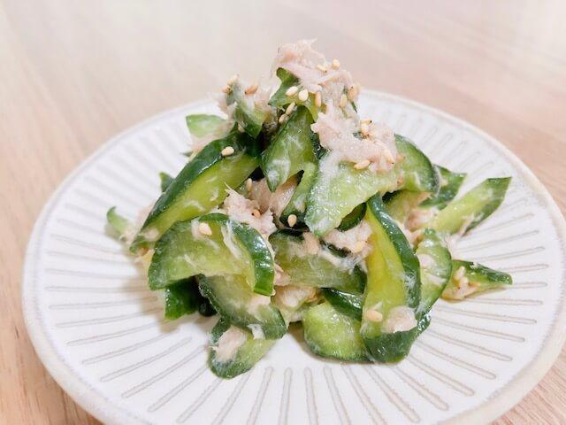 【大量消費】キュウリとツナの和風サラダ  完成
