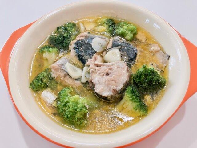 【鯖缶アヒージョ】電子レンジで作る鯖の水煮缶レシピ 完成