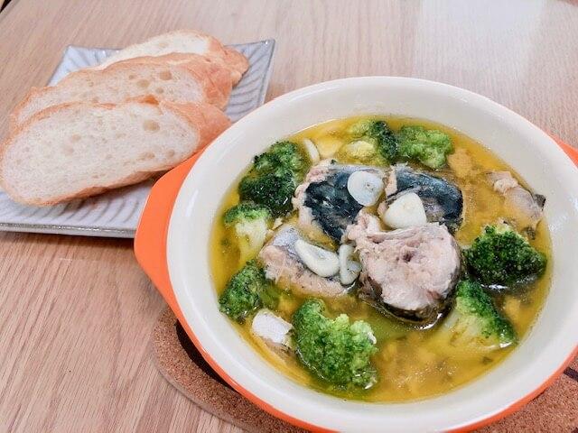 【鯖缶アヒージョ】電子レンジで作る鯖の水煮缶レシピ